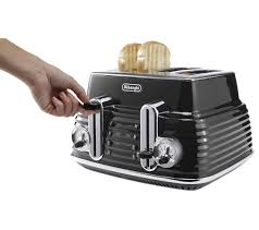 Toasters Delonghi Buy Delonghi Scultura Ctz4003bk 4 Slice Toaster Black Free