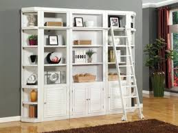 Small Desk With Bookcase Desk 122 Decorated Wall To Wall Built In Shelves And Desk Home