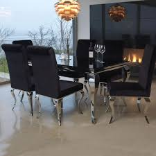 black glass kitchen table black glass dining table is also a kind of louis and steel