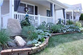 condo blues recycled front porch and garden renovation reveal