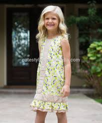 sale summer country style baby girls dresses lemon meringue a