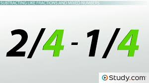 how to add and subtract like fractions and mixed numbers video