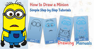 draw minion minions cartoons easy step step drawing