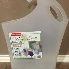 rubbermaid wrap n craft find more rubbermaid wrap n craft gift bag tote for sale at up to