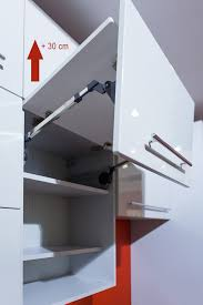 hängeschrank küche glas hängeschrank mit hochfaltklappe glas lava vanille matt 80cm neu