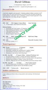 Example Of A Resume For A Highschool Student by Examples Of Good And Bad Cvs Cv Plaza