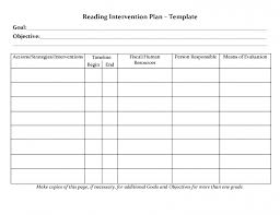 student planner templates reading intervention plan template rti