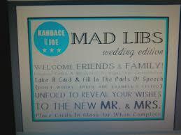elegant affairs fun keepsake wedding mad libs