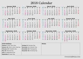 calendar 2018 excel with holidays 2018 calendar excel