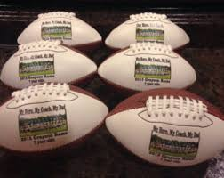 engraved football gifts personalized size footballs for coaches gifts