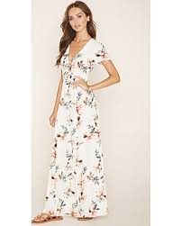 floral maxi dress spectacular deal on forever21 women s lace up floral maxi dress