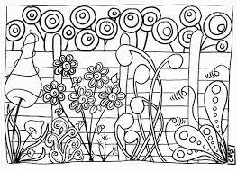 coloriage le jardin crapouilleries