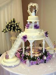 flashy wedding cakes with fountains for the adventurous bride and