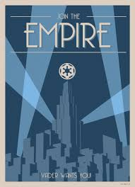 Art Deco Style Star Wars Art Deco Style Poster Join The Empire Starwars