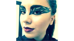 Halloween Black Swan Makeup