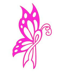 marketplace tattoo breast cancer ribbon butterfly 2941