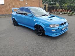 subaru hatchback 2 door rare 2 door subaru impreza turbo 2000 blue 22b wrx uk sti type r