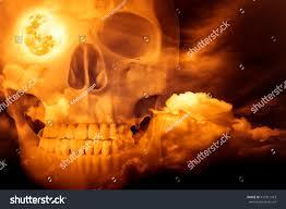 halloween horror night on orange background stock photo 431011423