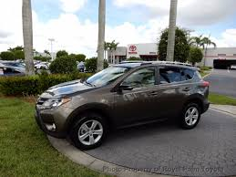 2014 used toyota rav4 fwd 4dr xle at royal palm toyota serving
