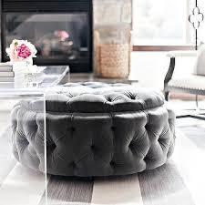 Grey Tufted Ottoman Ottoman Coffee Table Design Ideas