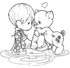 precious moments coloring pages world