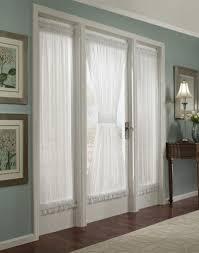 Vertical Ruffle Curtains by Door Wall Curtain Ideas Integralbook Com