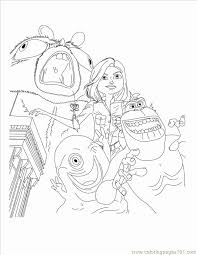 Monsters Inc Boo Coloring Pages Lovely Monsters Vs Alien Az