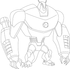 ultimate alien coloring pages ben 10 book arms waybig