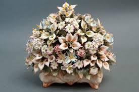 capodimonte basket of roses capodimonte porcelain centerpieces
