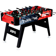 space needed for foosball table espn 54 inch foosball soccer table walmart com