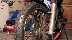 how to remove u0026 install front wheel harley davidson softail