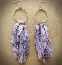 owlita earrings 45 best fiber earrings images on fabric earrings