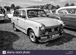 trabant car trabant 601 black and white stock photo royalty free image