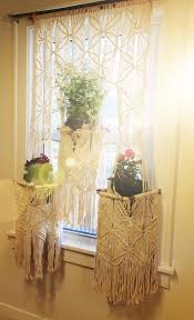 Spartan Home Decor by Macrame Plant Hanger Curtain