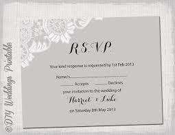 free wedding rsvp template wedding rsvp template diy silver gray antique free