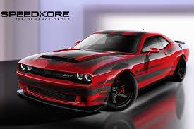 dodge challenger demon speedkore reveals dodge challenger srt demon with carbon fiber