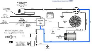 radiator cooling fan relay wiring diagram cooling fan circuit