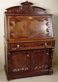 victorian walnut drop front desk