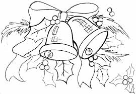 christmas bell coloring pages santa kids bells