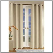 Wooden Patio Door Blinds by Double Fabric Door Curtains And Mounted Blinds For White Wooden