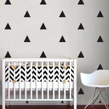 modern kids wall decor triangle wall sticker home decor ba nursery
