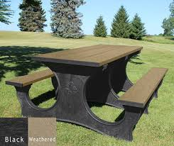 Picnic Table Frame Picnic Tables Legacy Picnic Table Walk Thru Design American Recycled