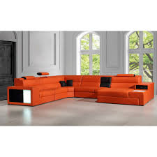 Modern Leather Sectional Couch Divani Casa Polaris Contemporary Bonded Leather Sectional Sofa