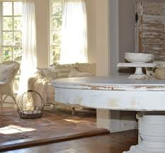 White Distressed Dining Table February 2014 Cottage Fix