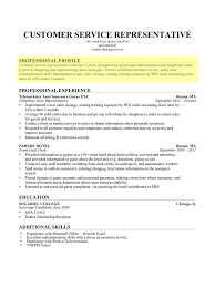 Examples Of Customer Service Resume by How To Write A Professional Profile Resume Genius