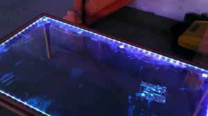 Wohnzimmertisch Crashglas Tisch Led Ferngesteuert Youtube