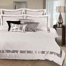 Kylie Duvet Sets Bedding Set Silver Bedding Sets Stunning Silver And White