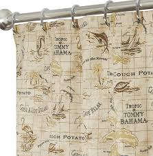 Shower Curtain Map Nautical Shower Curtains For Bathroom Decor