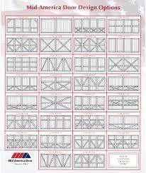 custom wood garage doors cw series mid america door garage mid america cw series wood garage door design options