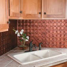 Kitchen Metal Backsplash Ideas by Decor U0026 Tips Tile Countertops And Undermount Sink With Copper